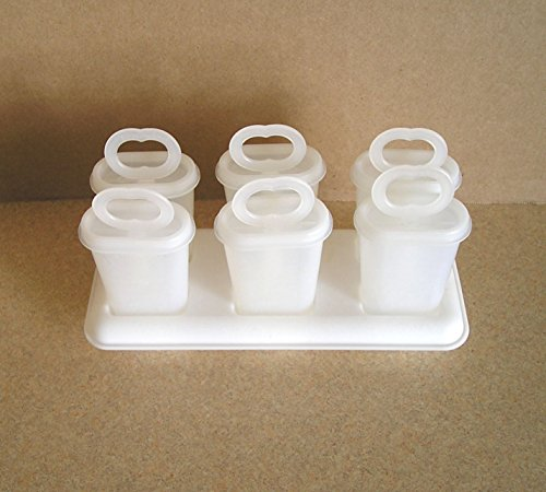 Vintage Tupperware Ice Tups Popsicle Set in Natural -