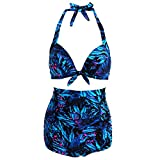 IDOMIK Bikini Sets For Women Hawaii Style Swimwear High Waist Halter Swimsuit Large Size