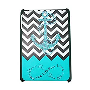 Chevron Anchor Blue Pattern Case Protector - Love The Life You Live for iPad 5