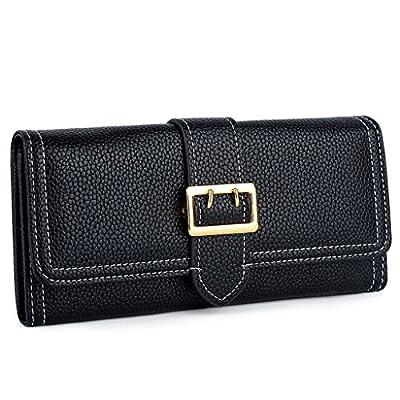 """UTO Women PU Leather Wallet Front Belt 5.5"""" Zipper Phone Case Card Holder"""
