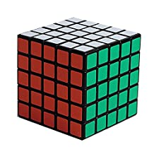 Shengshou 5x5 sticker magic cube,black