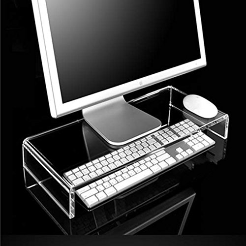 Set Stand Clear Tv (Strong Clear Acrylic Stand for Computer Monitor Screen or LCD Television (Riser Shelf Plinth))