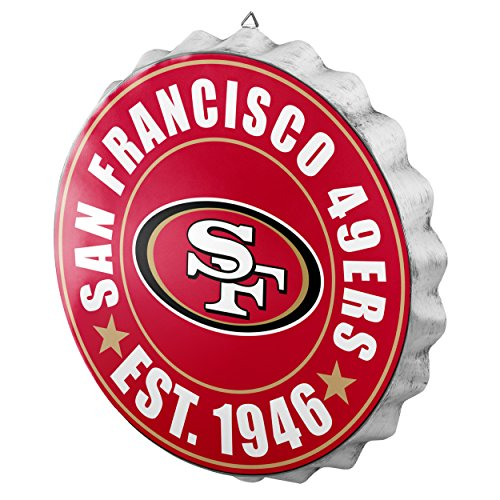 San Francisco 49ers 2016 Bottle Cap Wall Sign