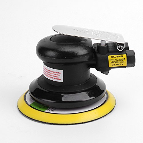 "5""Professional Air Random Orbital Palm Sander,Dual Action Pneumatic Sander,Polisher Sanding,Light Weight,Low Vibration, Heavy Duty by NOVIA TOOLS (Image #9)"