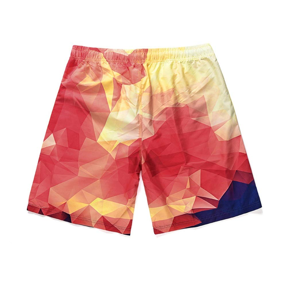 Gohbqany Mens Swim Trunks Colorful Mens Swimming Shorts Quick Dry Trunks Casual Short Running Gym Shorts Lounge Shorts with Pockets Color : Colorful, Size : XL