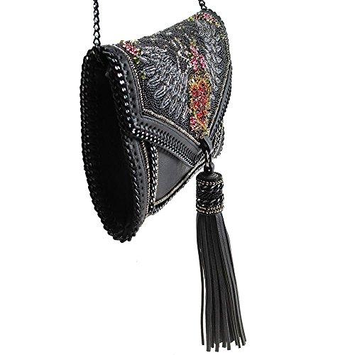 Amore Heart Handbag Crossbody Embellished Multi Frances Mary That's Crystal Winged Leather q1EBYz