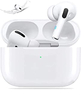 Wireless Earbuds Bluetooth 5.0 Headset with [24-Hour Fast Charging Box] IPX5 Waterproof Touch Earphone, in-Ear 3D Stereo, Built-in Dual Microphones, Suitable for iPhone/Samsung/Android/Apple/Airpods
