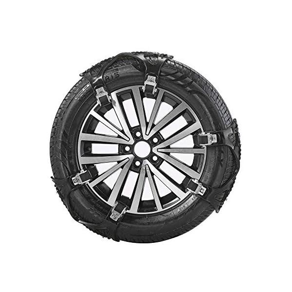 Topqsc Lot de 6 chaînes antidérapantes universelles pour pneus de 165 à 285 mm – Faciles à monter – En polyuréthane…