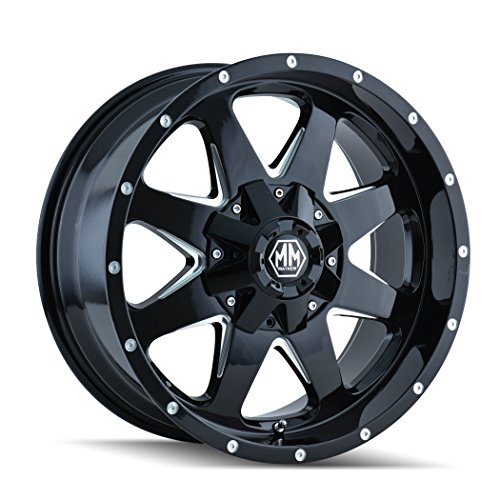"Mayhem 8040-8937B18 Tank Wheel with Black Finish and Milled Spoke (18x9""/6x135mm)"