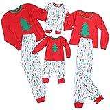 PopReal Reindeer Print Family Matching Clothes Long Sleeve and Pants Christmas Pajamas Set
