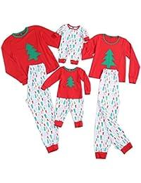 Christmas Patterns Family Matching Clothes Long Sleeve and Pants Pajamas Set