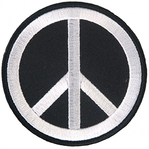 Embroidery Sign - Hot Leathers, PEACE SIGN, High Thread Embroidered Iron-On / Saw-On Rayon PATCH - 3