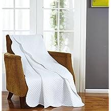 Plaid Ultra Sonic Throw 50 x 70 inches,White