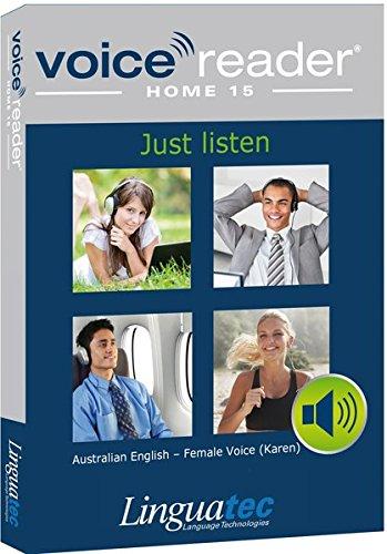Voice Reader Home 15 Englisch-Australisch – weibliche Stimme (Karen): Das Vorleseprogramm der Extraklasse