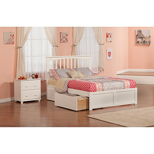 Atlantic Furniture Mission Bed Set Full UBD Nightstand by Atlantic Furniture