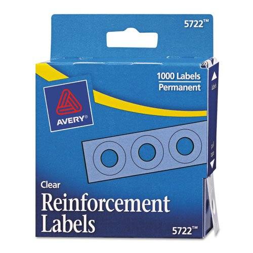 Avery Hole Reinforcements - Avery(R) Self-Adhesive Reinforcements, Clear, Pack Of 1000