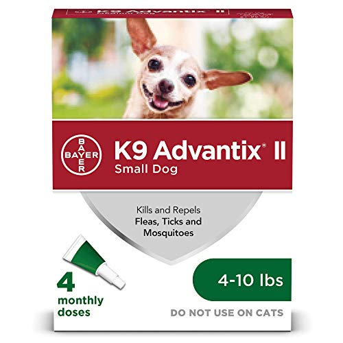 (Bayer K9 Advantix II Flea, Tick and Mosquito Prevention for Small Dogs, 4 - 10 lb, 4)