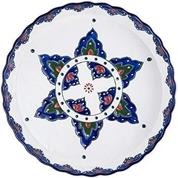 Pfaltzgraff Ceramic Round Pie Plate, 11-Inch - 5169261, Starburst Blue