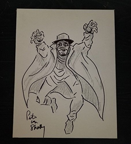Darkman Original Drawing Pete von Shelly Hand Signed Artist Board W/COA from Unknown