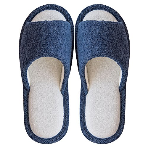 summer stay thick slip 41 floor female indoor lovely with Spring slippers wooden non cool B and male slippers linen dark fankou 40 a blue couples TwEnHInOq