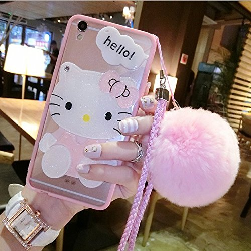 iPhone 5/5s/SE Case Hello Kitty Cat Case iPhone 6 6s 7 8 Plus Cover Cartoon Case iPhone X Cover (iPhone 7/8 Plus)