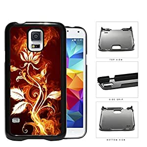 Flower Burning With Fire Flames And Smoke Hard Plastic Snap On Cell Phone Case Samsung Galaxy S5 SM-G900