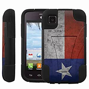 [ManiaGear] Rugged Armor-Stand Design Image Protect Case (Texas Flag) for LG Optimus Dynamic II L39C