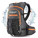 Chameleon Hydration Backpack Pack – Breathable Perfect Camel Bag for Trail Running, Cycling and Hiking – 2L Water Bladder Included