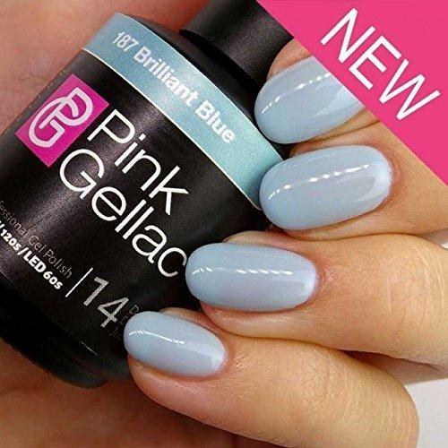 Pink Gellac #187 Brilliant Blue UV / LED Gel Polish