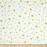 quilting fabric with 5 stars - Kaufman Cozy Cotton Flannel Stars Yellow Fabric By The Yard