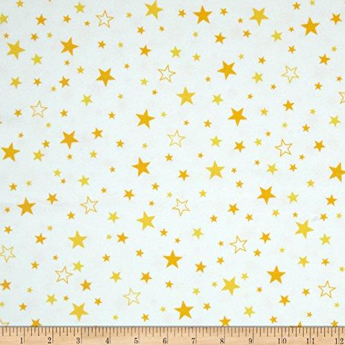 (Robert Kaufman Kaufman Cozy Cotton Flannel Stars Yellow Fabric By The)