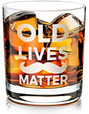 Birthday Gift for Men Women, Old Fashioned Whiskey Glass, Whiskey Lovers Gift for Dad, Mom, Husband, Wife, Friends Male Female, Funny Gift for Anniversary