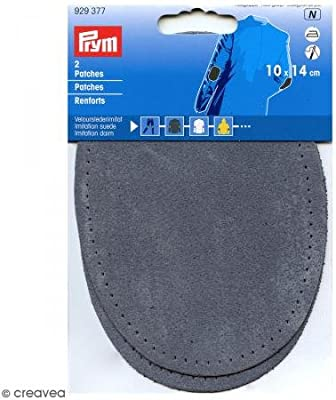 Bleu Denim Prym 14 x 10 cm 2 Pices Simili Daim pour Repasser ou Coudre