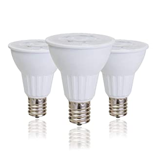 E17 Reflector R14 Bulb, E17 LED Light Bulb for Reading Lamp,Cabinet Lamp,Desk Lamp,5 Watt(50W Incendescent Equivalent), 400 Lumens, Cool White 6500K Non-dimmable (3 Pack)