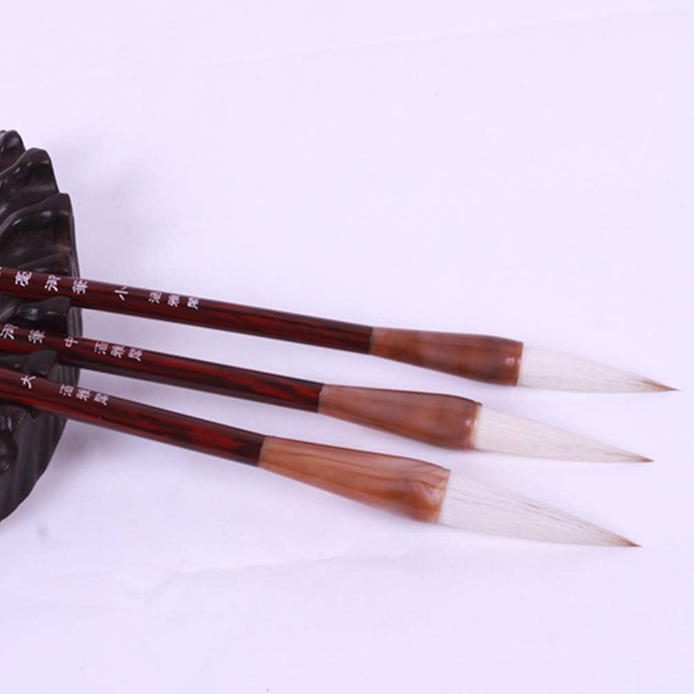 NUOBESTY 3 Piezas Pincel de Caligraf/ía China Pincel de Escritura Sumi Japon/és Pincel de Pintura Pincel Kanji para Principiantes Pintar Colorear Y Practicar Caligraf/ía