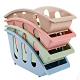 4pcs Kitchen organizer Dish Rack Salad Dessert Plate Cradle for Cabinet Galley
