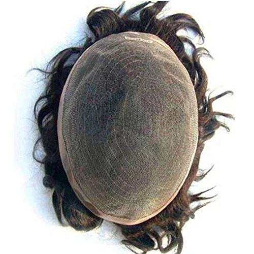 N L W European Virgin Human Hair Toupee For Men With Soft