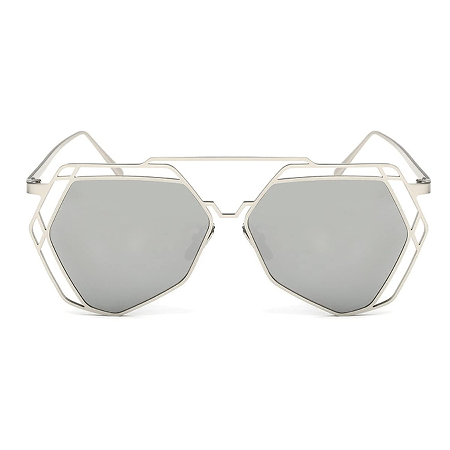 W-Q Womens Trendy UV400 Protection Stainless Steel Metal Frame Sunglasses