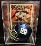 New York Giants NFL Helmet Shadowbox w/ Eli Manning