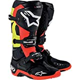 Alpinestars Tech 10 Men's Dirt Bike Motorcycle Boots - Black/Red/Yellow / Size 12