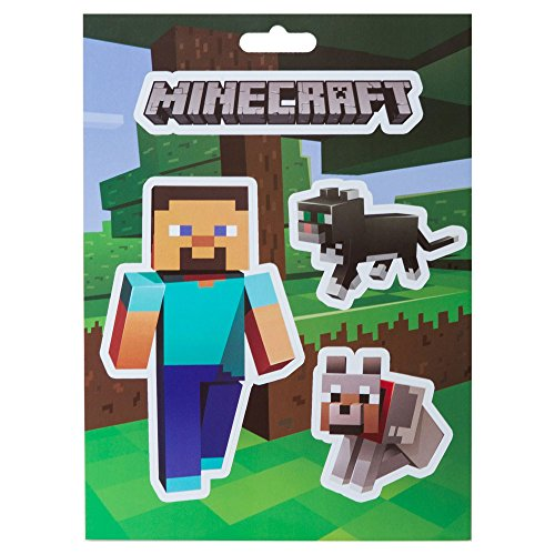 JINX Minecraft Steve Pets Sticker Pack (Multi-Color, 4 Multi-Size Stickers) ()