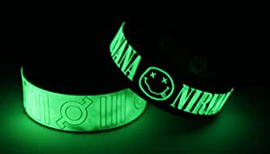 30 SECONDS TO MARS NIRVANA Glow in the Dark Bracelet Wristband T7N8