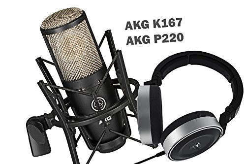 AKG Bundle Package - AKG K167 + AKG P220 - For Home/Studio Precision Listening, Recording, Monitoring, Studio and Live Sound, Mixing and Mastering