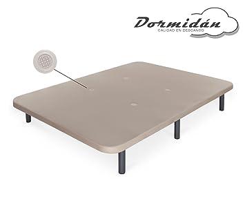 Dormidán - Base tapizada con Tejido 3D y válvulas de aireación + 6 Patas Acero 30cm, Refuerzo Central, Medida 80x180cm: Amazon.es: Hogar