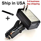Kodak EasyShare Z1012 IS & Z1012IS Digital Camera KLIC-8000 Compatible Battery Charger with Car Adapter - Bargains Depot®