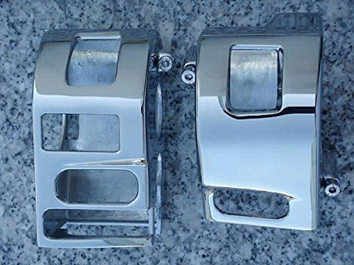 (i5 Chrome Switch Housing Covers for Yamaha V-Star 1100 Custom 1999-2009.)