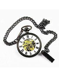 Semi Automatic Mechanical Pocket Watch Retro No Cover Classic Fashion Gift Souvenir Chain Men Women Pocket Watch