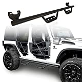 Automotive : Hooke Road Wide Drop Side Steps Nerf Bars Solid Steel Running Boards for 2007-2018 Jeep Wrangler JK 4-Door(Exclude 2018 JL Edition)