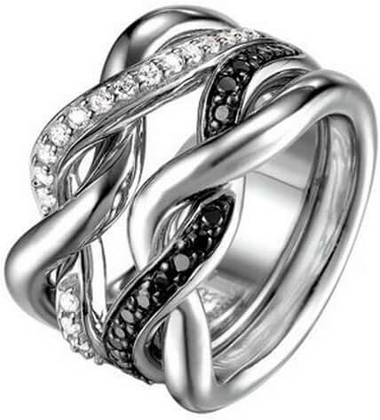 ESPRIT Women's Ring Sterling Silver 925/1000/25.0 G Zirconium Oxide
