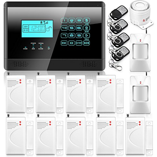Wolf-Guard Wireless & Wired GSM SMS Home House Security Inturder Alarm System With Touch Keypad